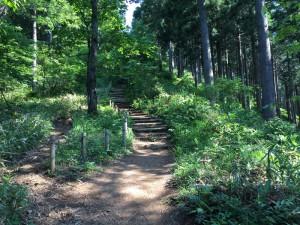 石投げ地蔵から明王峠への階段