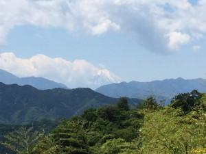 富士屋から望む富士山