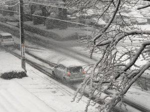 2018年1月22日15時現在の相模原積雪情報