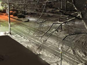 相模腹の道路積雪状況(2018年1月22日)