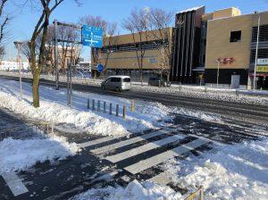 国道16号の積雪状況