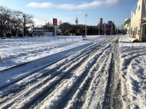 相模原市の道路積雪