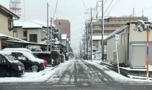 相模原市中央区の積雪状態