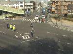 清新の国道16号で早朝にトラックと軽乗用車衝突